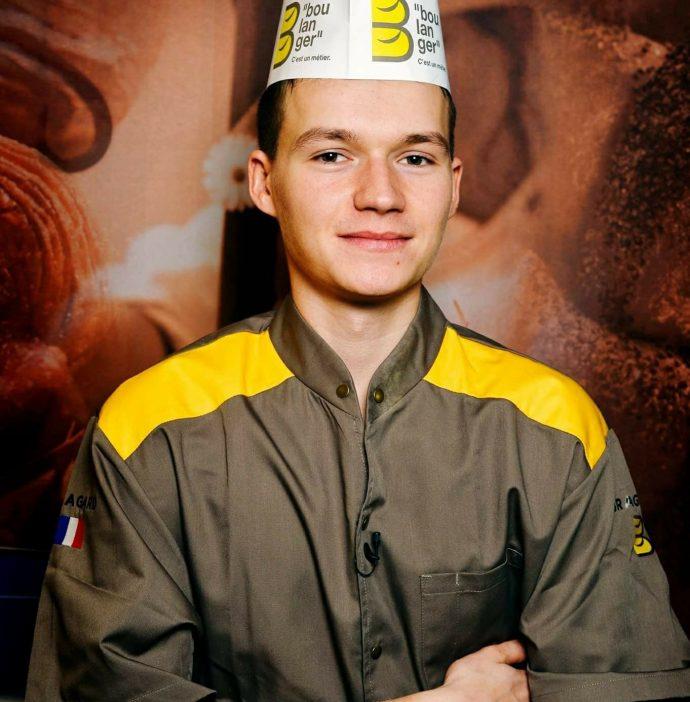 Photo de Matthieu Morvant, jeune boulanger, participant à l'IBA Cup de Munich en septembre 2018.